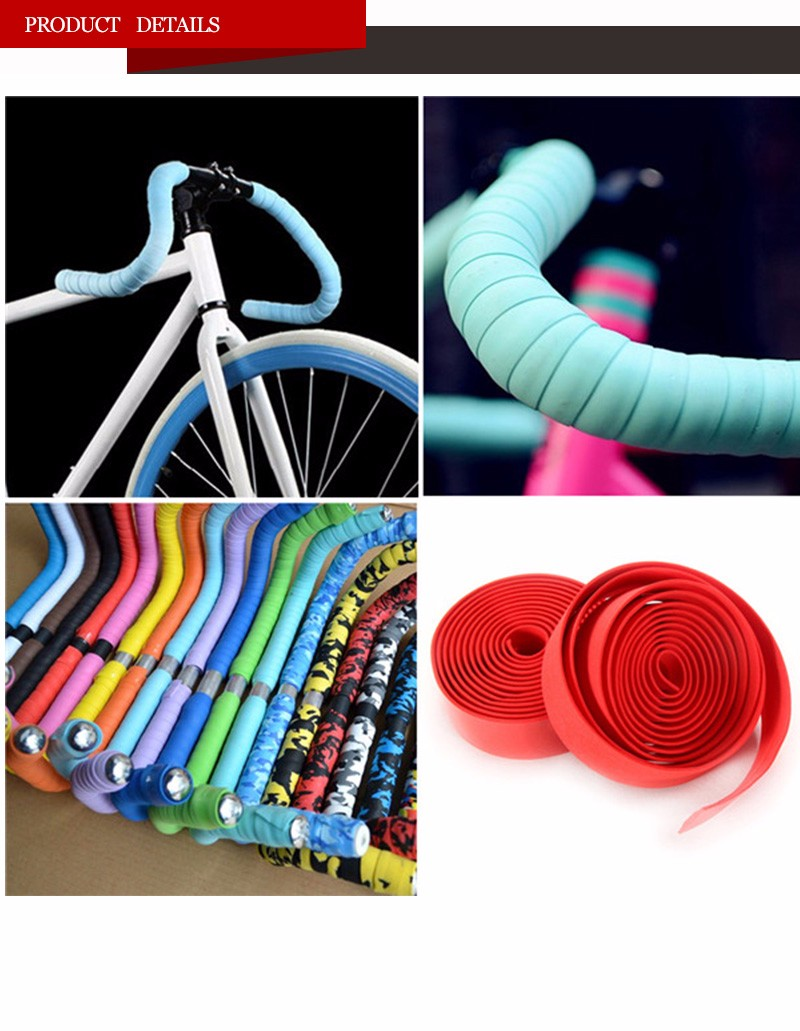 Road Bike Handlebar Tapes Wraps, Bicycle Bike Bar Tape Anti-Slip & Damping Rubber Cushion, Cycling Handle Wraps With Bar End Plu