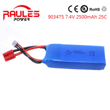 high Power Lipo Battery 7.4v 2500mah 25C For Syma X8C/X8W/X8G RC Helicopter Airplane Boat HQ899 Drone Bateria903475