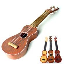 21 inch Ukulele Beginner Hawaii 4 String Nylon Strings Guitar Musical Ukelele Toys for Children Kids Xmas Gift Random Color
