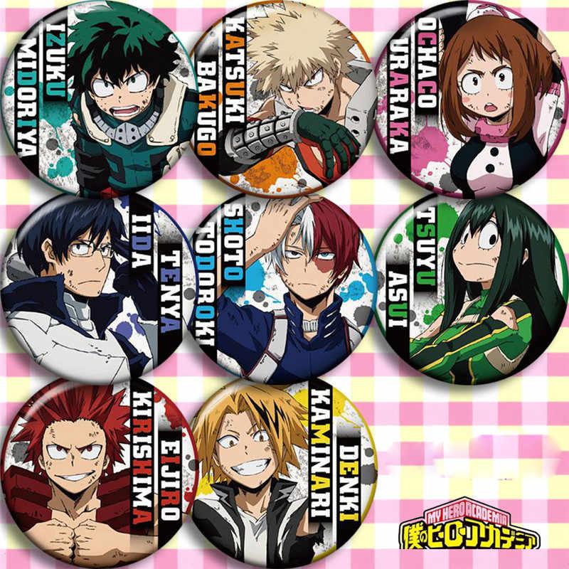 8pcs Sets Anime Cartoon Badge Pin Button Brooch Bags My Boku