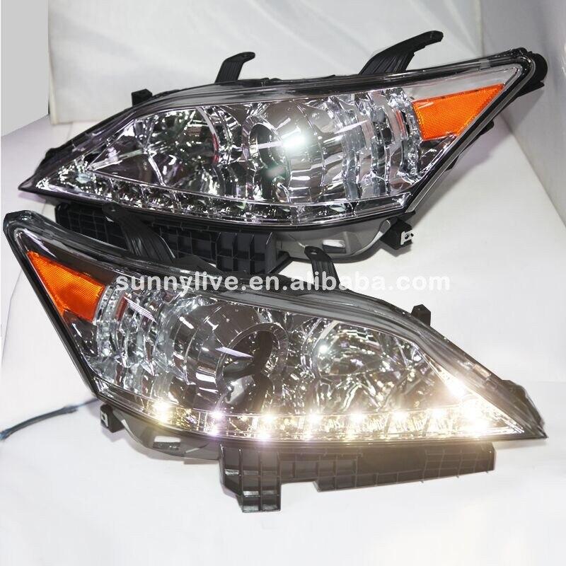 For Lexus ES350 EX350 LED Head Lamp 2007 2012 Year Chrome