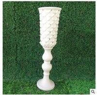 Wedding Rome column road leads plastic trumpet vas, stage decoration plastic new vase, road leads to plastic flower pot wedding.