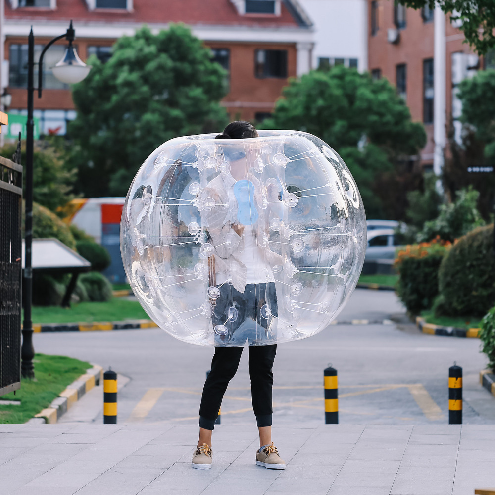 1.5M 5ft Diameter Bubble Soccer Ball Inflatable Bumper Ball Blow Up Toy in 5 Min Inflatable Bumper Bubble 2017 newest 1 2m diameter inflatable soccer ball inflatable bubble human haster ball transparent for fun game