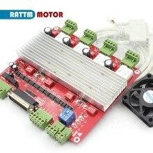 ЕС доставки! Высокая скорость оптопара 3 оси или 4 оси ЧПУ контроллер TB6560 шаговый двигатель драйвер платы и DB25 bable