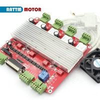 EU Delivery! High speed Optocoupler 3Axis or 4 Axis CNC controller TB6560 stepper motor driver board & DB25 bable