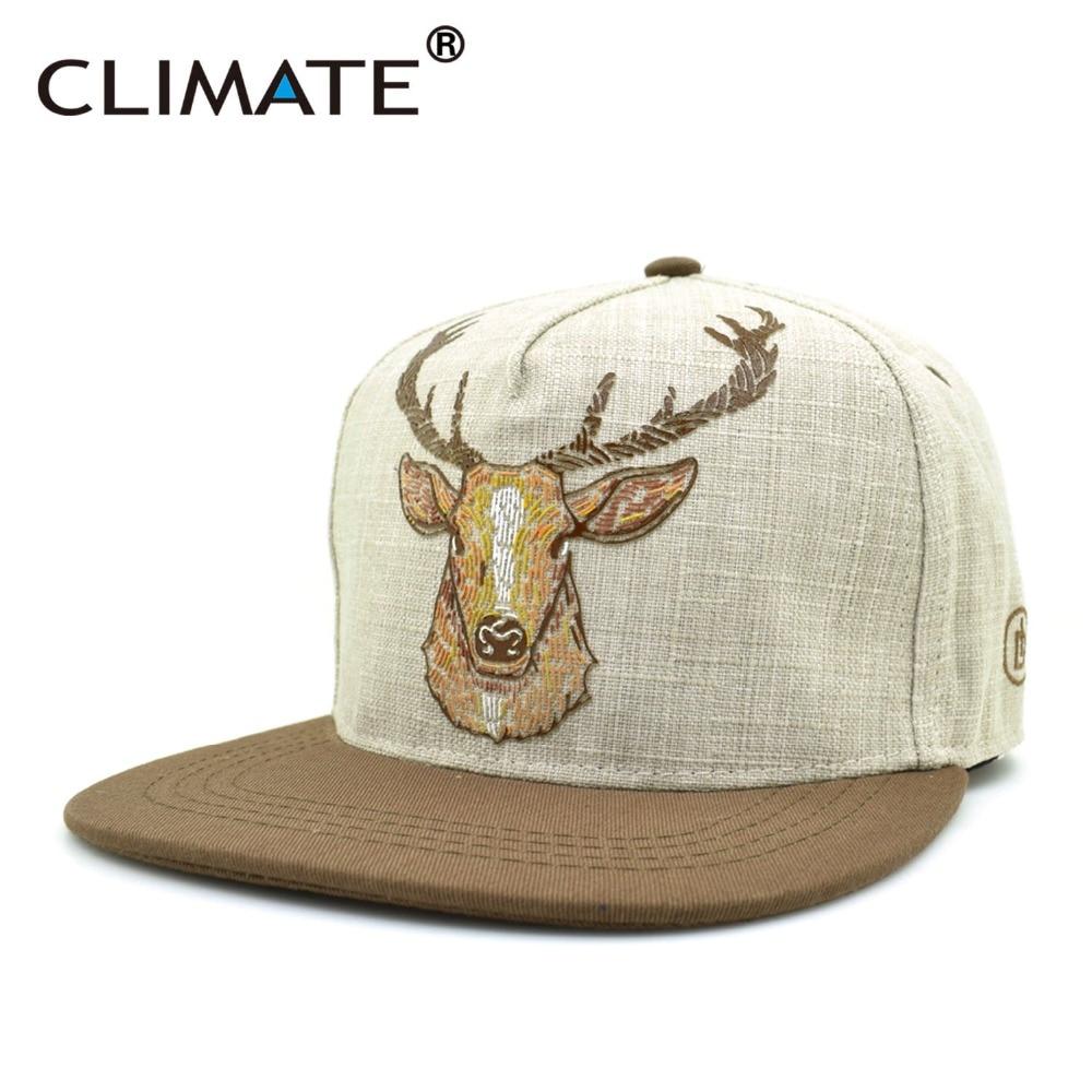 Prix pour CLIMATE 2017 Nouveau Printemps Mode Cool Elk Antler Cerf Cerf Snapback Casquettes Chasse Homme Femmes Réglable Hiphop Snapback Chapeau Cap