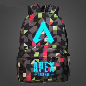 Image 2 - Nueva llegada, juego popular, mochila APEX LEGENDS, mochilas luminosas para viaje, escuela