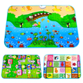 110*70 Play mat Puzzle for Children eva foam rug Picnic carpet toy for baby kids developing Beach Seat cushion Camping mats 712