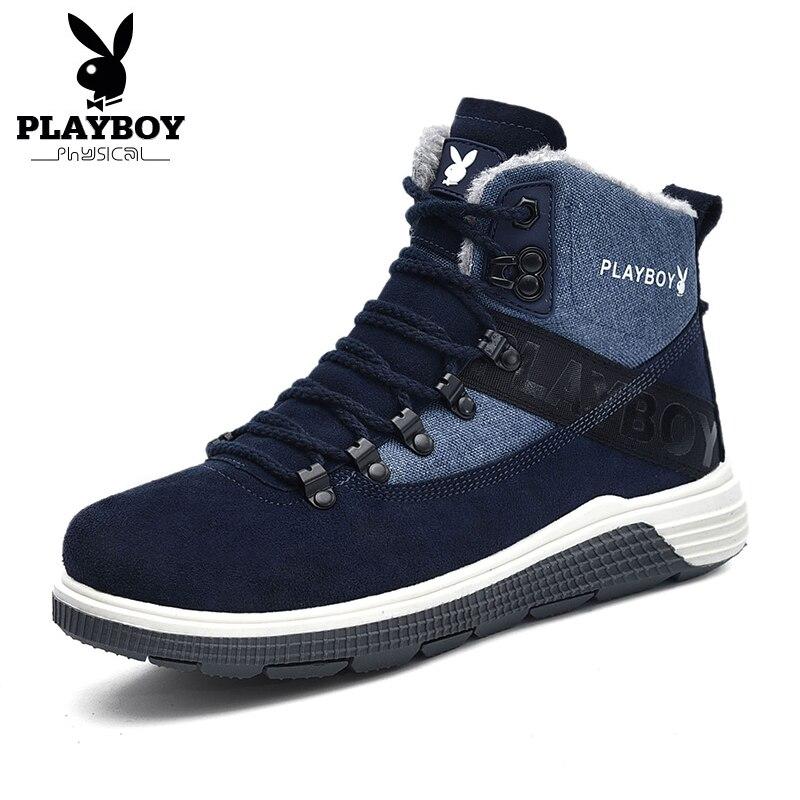 09c0ec3e2a7238 De Chaudes Chaussures Nouveau Neige Cheville bleu ardoisé Travail Noir Mode  Avec Ds87271 Playboy Bottes D'hiver Tpr Pour Hommes XFpqpA
