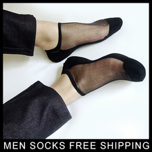 men nylon Ankle silk socks Sexy sox for male High quality TNT man retail wholesale New style