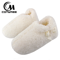 CONYMEE Women Fur Slippers Winter Indoor Shoes Woman Home Furry Slippers
