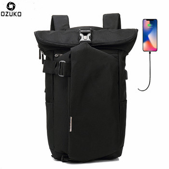 OZUKO Fashion Backpack Men for Teenager 15.6 inch Laptop Backpack Oxford Travel Rucksack Casual School Bags USB Charging Mochila brand fashion backpack women shoulder bag school bags for teenager girls casual laptop backpack school travel mochila rucksack