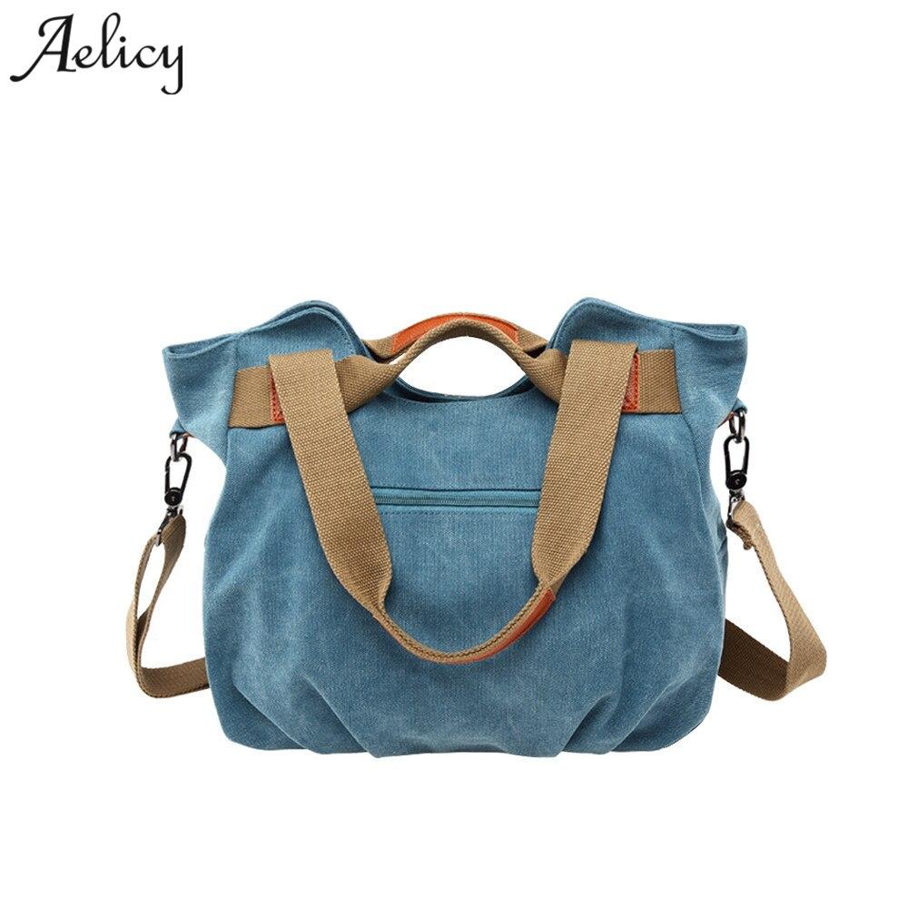 Large Capacity Casual Vintage Hobo Canvas Handbags Handbags Bags Designer  4 Colors 1108