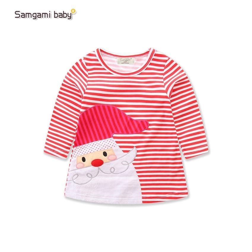 New-Sweet-Christmas-dress-for-girls-princess-dress-100-Cotton-Striped-Deer-Christmas-Long-Sleeve-Baby-girl-Clothes-1-5yrs-4
