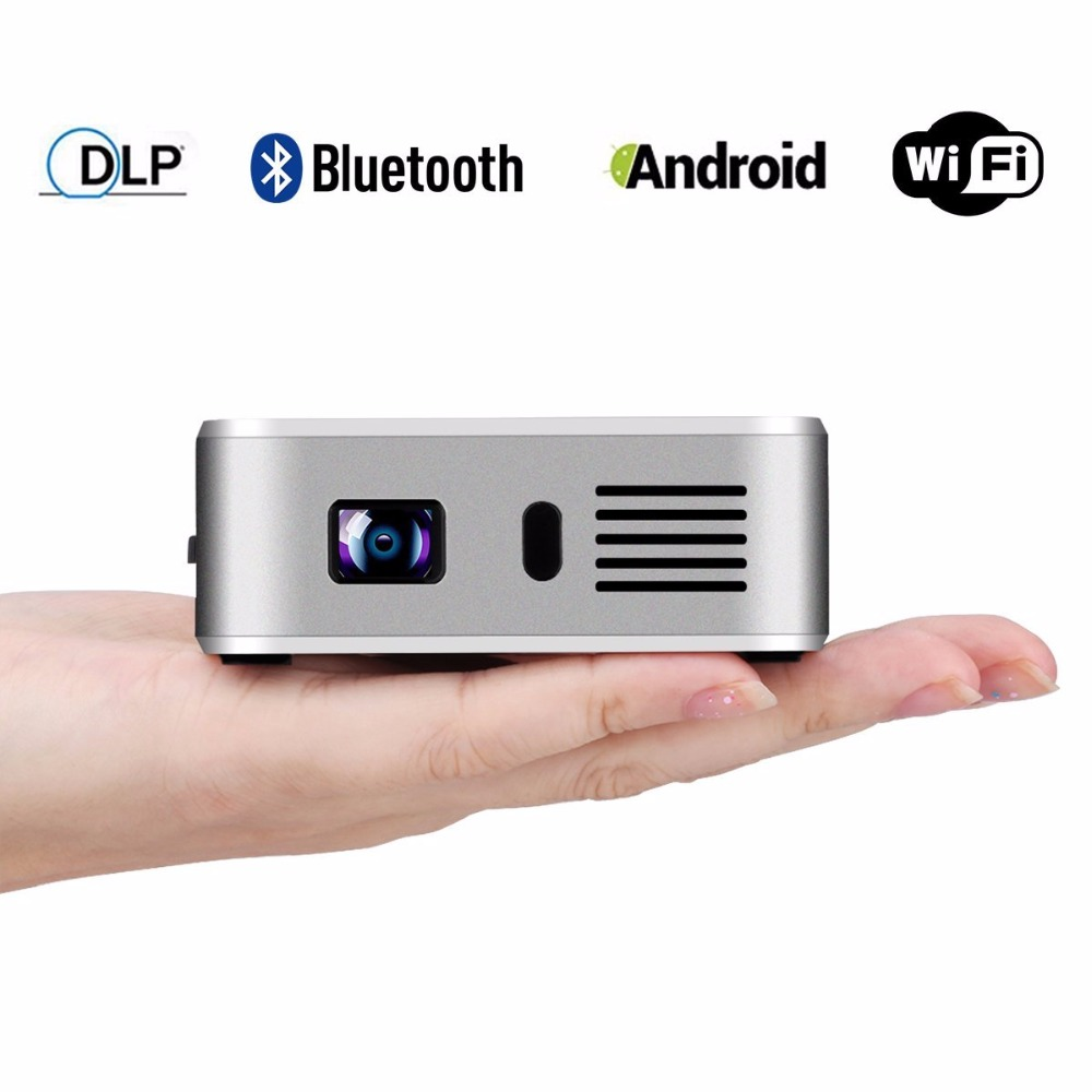Mini proyector E05 Android 4.4 WIFI TV Box Bluetooth HD LED DLP Multimedia Proye