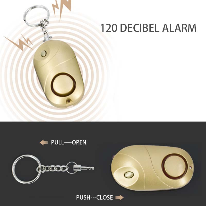 2019 Wholesale 130dB Anti Theft Personal Alarms Keychain Self-Defense Emergency Security Safety Defensa Personal Accessories