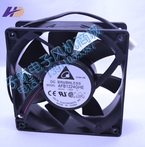 Wholesale: Delta 120*120*38 24V 1.60A  AFB1224GHE inverter air fan violence delta new afc1212de 12cm 3a large air volume support pwm 4 wire pwm fan for delta 120 120 38mm