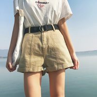 Women Euro Style High Waist Denim Shorts Stretch Casual Basic Jeans Shorts High Quality Shorts For
