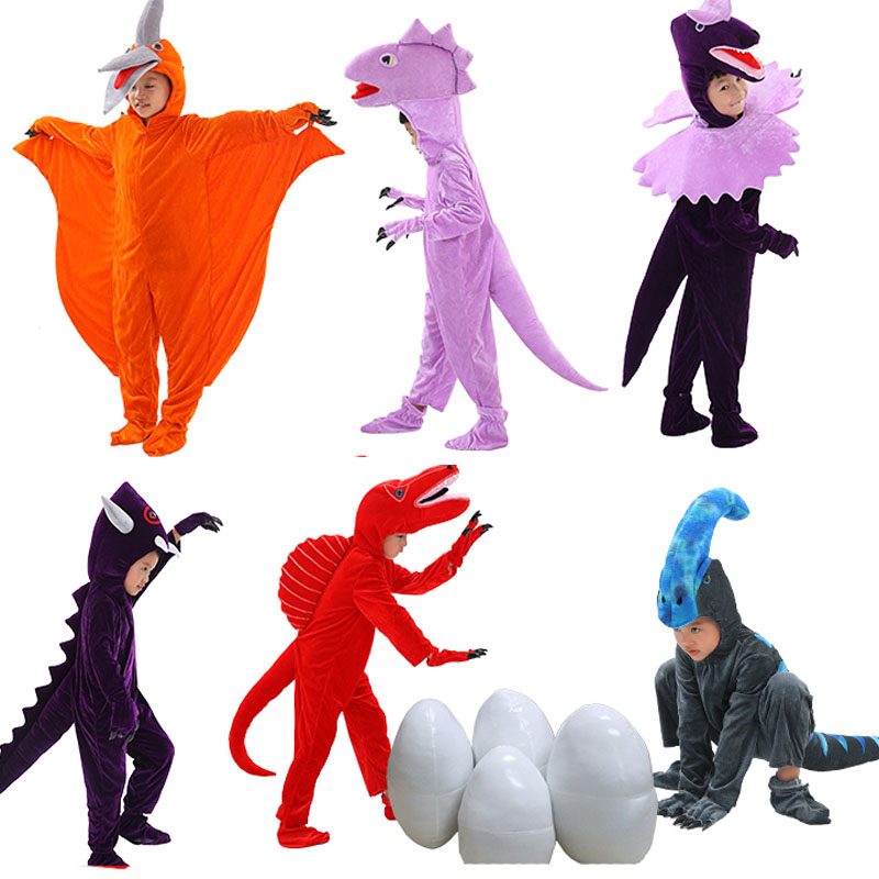 Kids Dinosaur Cartoon Characters Fancy Costume T Rex ,Triceratops dinosaur,Pterosaura Cosplay