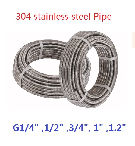 20meters/lot 304Stainless Stee 1/4 ,1/2 ,3/4, 1 ,1.2Pipe Expandable Hose Retractable Water Hose Corrugated Pipe Bellows g 1 1 4 11 tpi bsp parallel british standard pipe tap