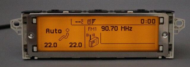 Soporte de pantalla USB Dual-zone air Bluetooth monitor amarillo 12 pines para Peugeot 307 407 408 pantalla citroen c4 C5 pantalla