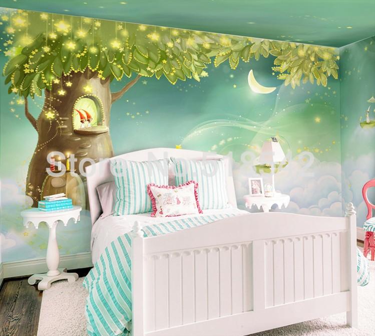 HTB1Hc_WKpXXXXXNXFXXq6xXFXXXG Custom Photo Wallpaper 3D Dream Cartoon Children Room Living Room Bedroom Home Decoration Wall Art Mural Wallpaper For Walls 3 D