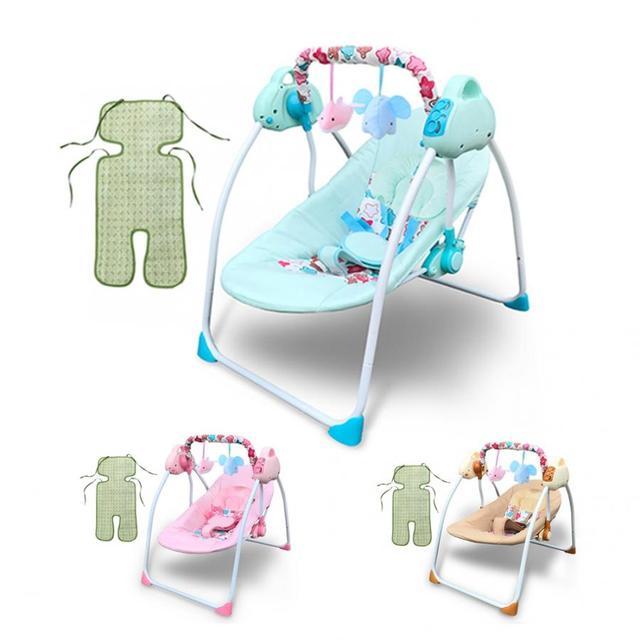 Cuna de columpio para bebé eléctrico con música Bluetooth Ajuste de Control remoto SILLA DE columpio para bebé