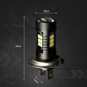 Image 5 - 4Pcs H7 LED Auto Lichter Bernstein Weiß Super Helle Auto Leds Birne Nebel Lichter Fahren Tagfahrlicht Lampe 12V Gelb 4300K 6000K 1200LM