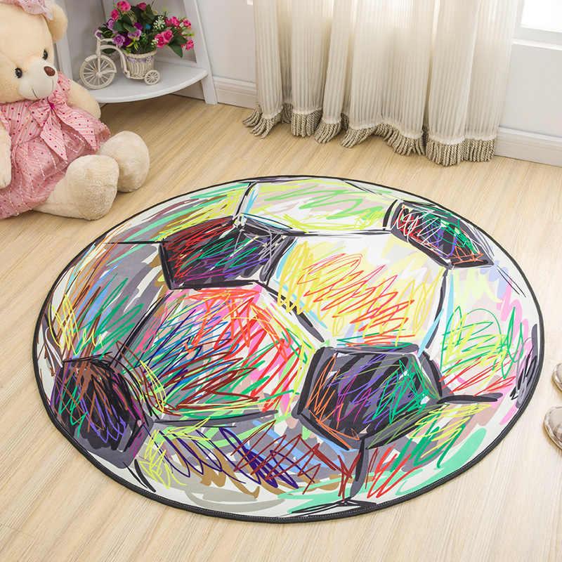 Круглый футбольный ковер пены памяти стул мат мультфильм коврик большой дети ползают игровые коврики Мат для йоги коврик для Гостиная
