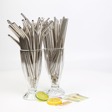 Drinking-Water-Pipes Straws Metal 215-Mm Can-Be-Reused And 50 304-Stainless-Steel 6-Mm