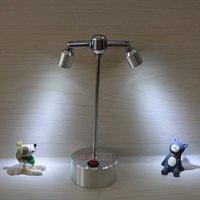 Батарея светодиодный прожектор витрина шкаф ТВ фон настенная лампа ювелирный витрина шкаф креативный маленький светильник 2 головки SD74 LU1021