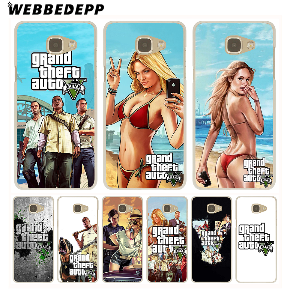 WEBBEDEPP Grand Theft Auto GTA V Case for Galaxy A3 A5 A7 A8(2015/2016/2017/2018) Note 8 5 4 3 2 Grand Prime ...