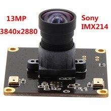 Módulo de cámara USB de 13MP, 3840x2880, módulo USB Industrial sin distorsión para cámara Web para Linux, Windows, Mac y Android