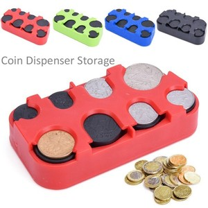 Russian Ruble Coin Dispenser Plastic Storage Box Coin Collection Purse Wallet Organizer Holder Bus Taxi Car Coin Changer Holder(China)