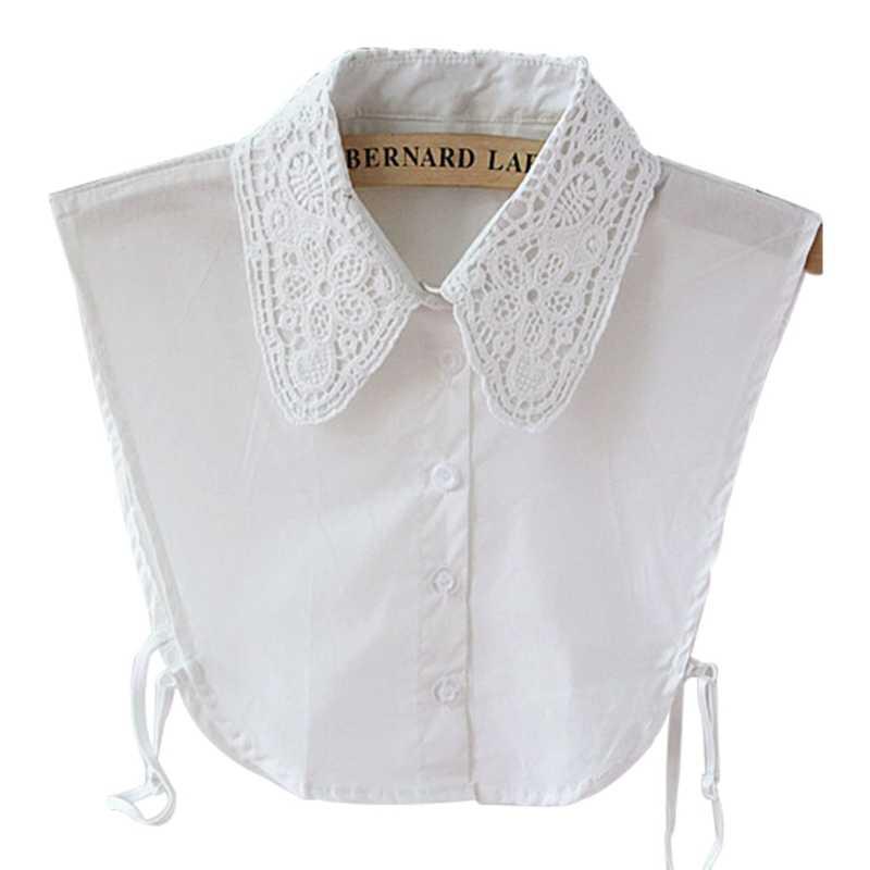 Womens Lace Collar Detachable Lapel Choker Necklace Shirt Fake False Collar