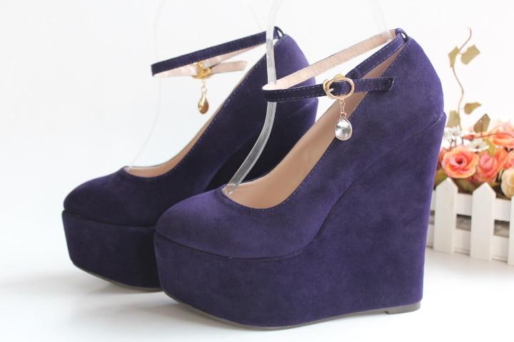 Talons gray Hauts gray Super Flock 15cm forme Compensées Bouche Chaussures Black Plate purple Femmes 9cm Printemps 30 Avec Des Pompes Grande Peu Mariage 43 15cm Heel red 15cm 9cm Taille black Profonde De 9cm w0XxSxY