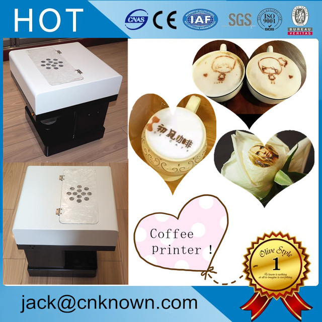 US $830 02 |New designed Edible ink Art Coffee Drinks Printer Food Printer  Chocolate Printer With customs own Logos/Pictures-in Food Processors from