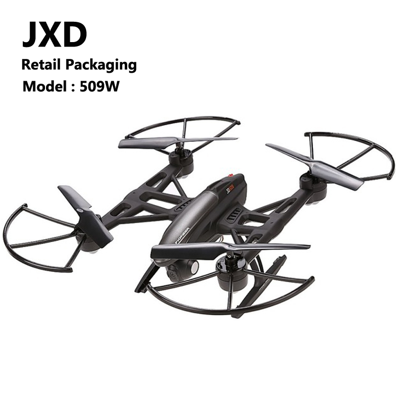 JXD 509W Remote Control Helicopter 0.3MP HD Camera 6 Axis Gyro Quadcopter 4 Channels USB Plug LED Light Dron yizhan i8h 4axis professiona rc drone wifi fpv hd camera video remote control toys quadcopter helicopter aircraft plane toy