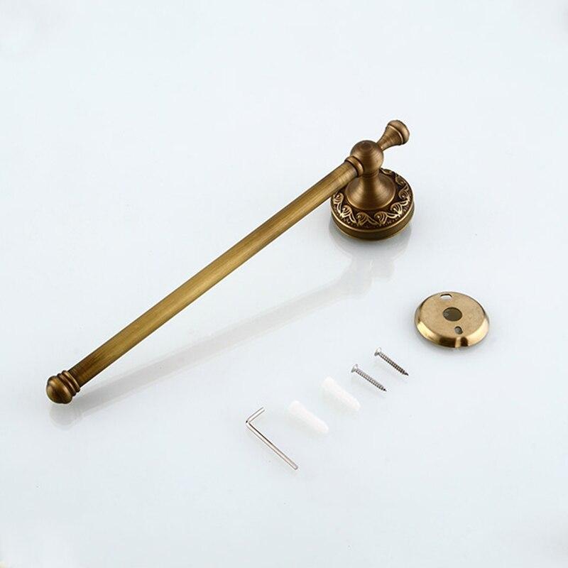 Купить с кэшбэком MADICA 29.5*6.2cm Single Towel Bars For Shower Room Vintage Brass Disposable Type Towel Rail Metal Nail Solid Stable Towel Bars