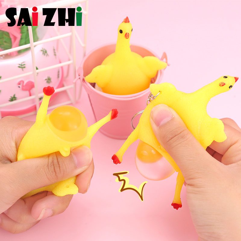 Surprise Toy Anti-stress Squeeze Toy Eggs And Eggs Fun Novelty Toys Relaxing Mood SZ1512