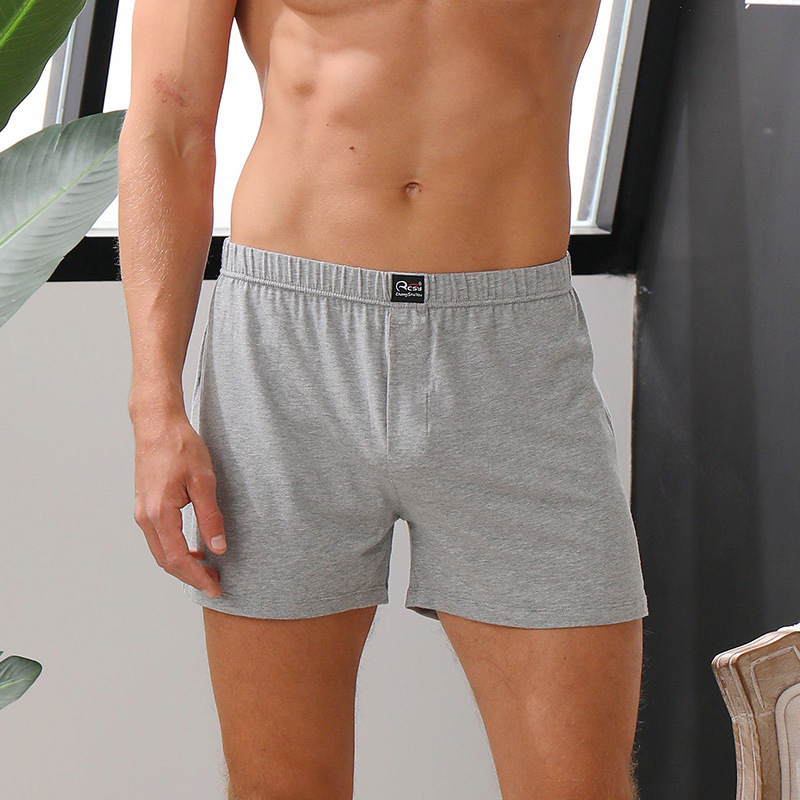 Mairuker Cotton Pajama Modal Solid Casual Sleepwear Loose Shorts Summer Men Boxers