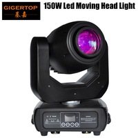 Gigertop TP L681 New 150W Led Moving Head Spot Light YGC 200WWW High Output 16/14/12/10 DMX Channel 512 Control Power in/out Con