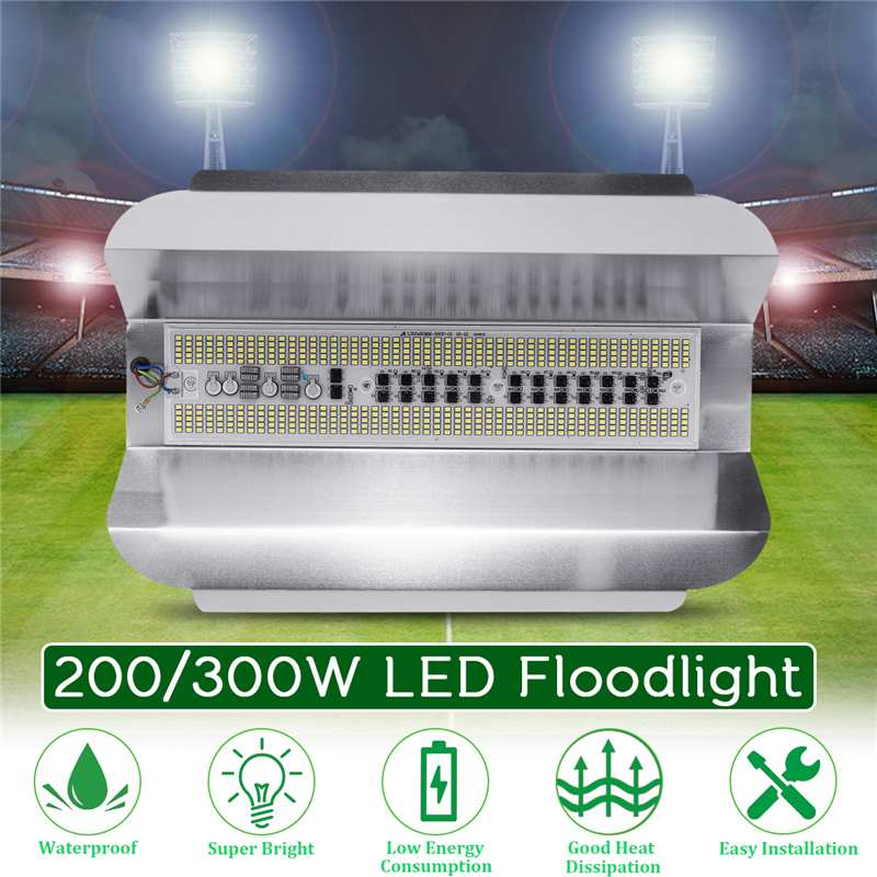 200/300W LED Flood Light Projector Searchlight 18000LM High Power Waterproof Floodlight Outdoor Lighting  AC180-260V Wall Light