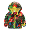 Baby camouflage ski-wear, 2016 spring and autumn outfit South Korea design new boy children's wear children's hooded coat