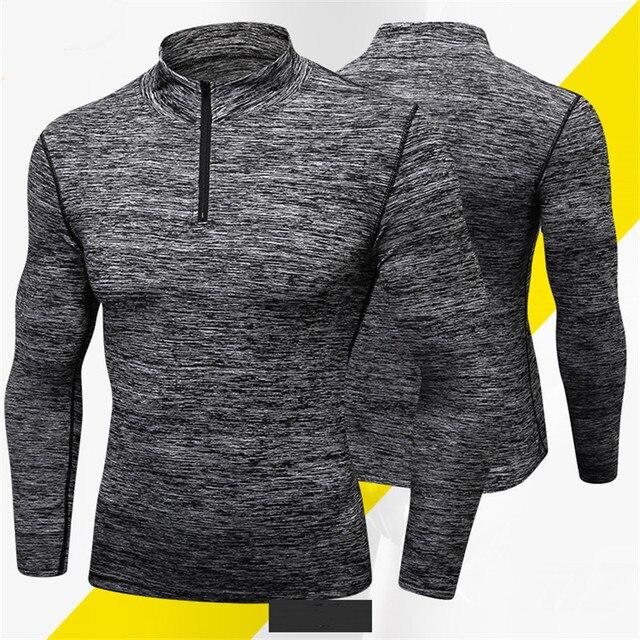ספורט גברים מהיר יבש חולצה ארוך שרוול ספורט למעלה ספורט גברים כושר חיצוני ריצת המרקורי בגדי אימון חולצה