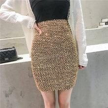 2018 Hot Womens Skirts Gold Sequined Mini Skirt Bodycon Pencil Skirt Short  Wrap Skirt for Office da803a68a656
