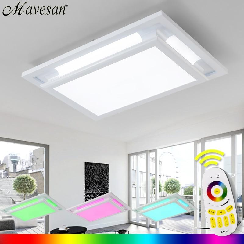 Vente chaude plafonnier à distance plafon led pour chambre RGB plafonnier lumière pour 15-30square mètres salon luminaire conception