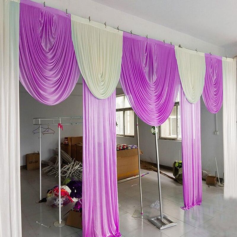 20FT Swags pro pozadí luxusní svatební pozadí swags závěsy překryvy pro události party svatební pozadí dekorace