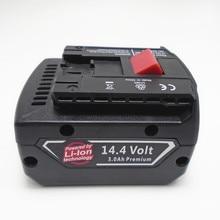 14.4 v celular recarregável Li-ion Battery pack 5000 mah para BOSCH broca chave de fenda Elétrica sem fio BAT607, BAT607G, BAT614, BAT614G