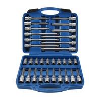 Newest Portable 32Pcs 1/2 DR Ex long Torx Bit Socket Set Multifunctional Professional Rust proof Corrosion Resistance Kit